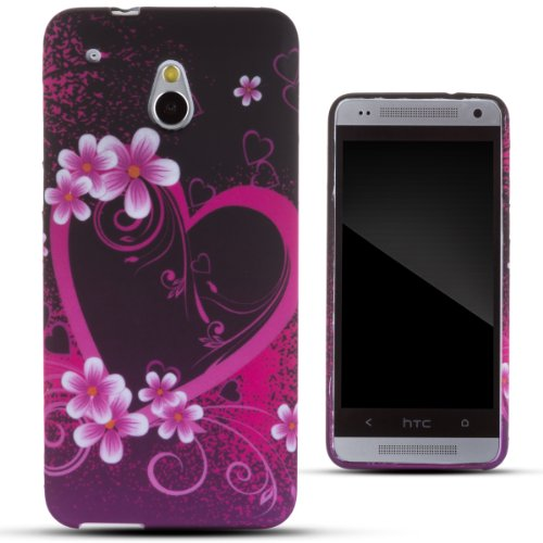 Zooky® Pink Tpu Heart Case / Cover / Shell For Htc One Mini (M4)