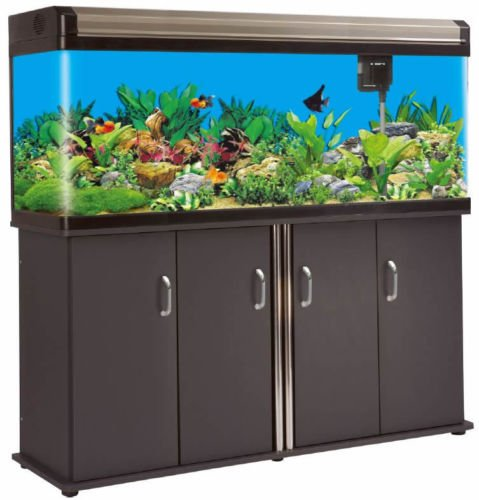 200 Gallon Glass Fish Tank Aquarium w/ Cabinet Stand Fresh or Salt Water