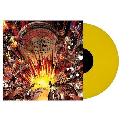 too loud to live, too drunk to die LP yellow