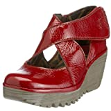 Fly london Yogo Red Patent Leather Womens New Cross Bar Wedge Shoes Boots