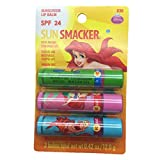 Lip Smacker Sun Smacker Lip Balm ~ Disney Ariel - 1 Pack of 3