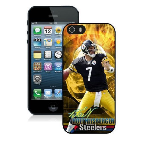 Fashion Hard Case Covers For iPhone 5/5S - NFL Pittsburgh Steelers iPhone 5/5S Case - High Impact Heavy Duty Shockproof - Ben Roethlisberger