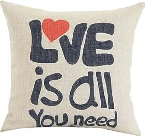 Amazon.com - 5Sheepgs 18 X 18 Inch Cotton Linen Decorative Inspirational Sayings Throw Pillow ...