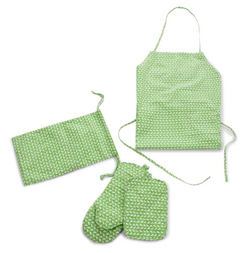 BBQ Apron Glove and Hotpad in Fabric Bag - Set of 4