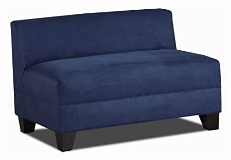 Carolina Accents Makenzie Armless Loveseat, Navy