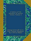 A history of the literature of ancient Greece; Volume 3