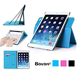 Bovon® Apple iPad Pro Case, iPad Pro Magnet Smart Case, Anti Scratch Slim Lightweight, Leather Adjustable Stand Case with Elastic Hand Strap, Card Slots, Auto Wake & Sleep Feature(2015 Release)(blue)