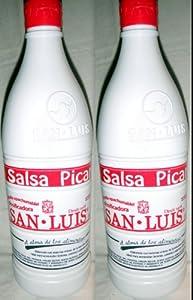 San Luis Salsa Picante Botanera Hot Sauce 1000g Each 2 Bottle Lot Sealed