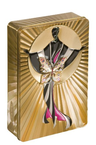 Churchill's Gold Art Deco (Venetia) Tin with Belgian Chocolate Biscuits 300 g
