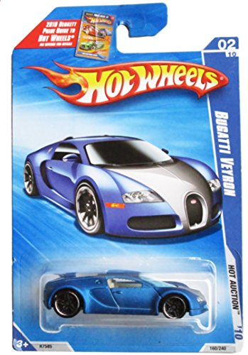 hot wheels 2010 160 blue bugatti veyron hot auction 164 scale ebay. Black Bedroom Furniture Sets. Home Design Ideas