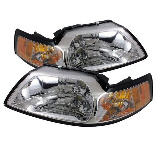 Spyder Auto HD-JH-FM99-AM-C Crystal Headlight (Mustang Headlights 99 04 compare prices)