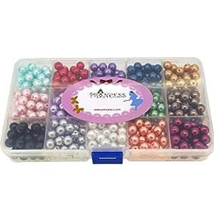 glas perlen f r schmuckherstellung 8 mm rund verschiedene farben box set 540pcs lot bulk. Black Bedroom Furniture Sets. Home Design Ideas
