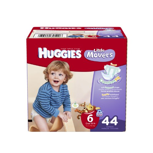 Huggies Little Movers Diapers, Size 6, 44 Count (packaging may vary) - 1