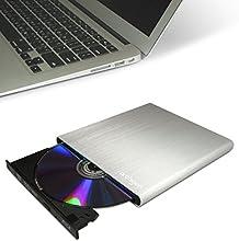 Archgon Style silver externa leer y grabar de Blu-Ray DVD CD plateado (Panasonic UJ-272) con USB 3.0 | cepillado caja de aluminio - plata | compatible con PC y Mac | MacBook Pro | Air | iMac