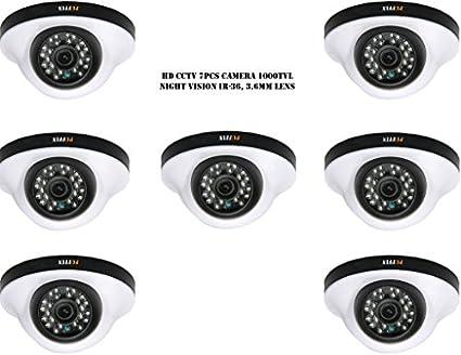 Puffin-S28330-7-1000TVL-Night-Vision-Dome-Camera-(7-PCs)