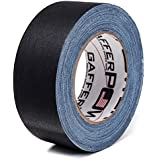 REAL Professional Premium Grade Gaffer Tape By Gafferpower® - Made in the USA, Black (Grey, White) 2 Inch X 30 Yards Heavy Duty Pro Gaff Tape - Strong, Tough and Powerful, Secures Cables, Holds Down Wires Leaving No Sticky Residue - Very Easy to Tear - Non- Reflective - Water Proof - Multipurpose for Around the House - Better Than Duct Tape - For the True Professional - Order Risk Free.
