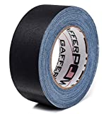 Professional Premium Grade Gaffer Tape By Gafferpower® - Black, (Grey, White Also Available), 2 Inch X 30 Yards Heavy Duty Pro Gaff Tape - Strong, Tough and Powerful, Secures Cables, Holds Down Wires Leaving No Sticky Residue - Very Easy to Tear - Non- Reflective - Water Proof - Multipurpose for Around the House - Better Than Duct Tape - Made in the USA - For the True Professional - Order Risk Free.