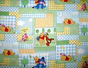 SheetWorld Fitted Pack N Play (Graco Square Playard) Sheet - Pooh Gingham Patch - Made In USA