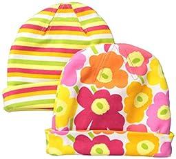Marimekko Girls\' Two Pack Floral Hat Set, Multi, One Size