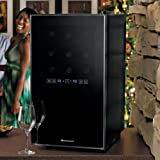 wine enthusiast silent 18 bottle two temp touchscreen wine refrigerator