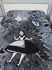Disney Alice In Wonderland Black & White Full/Queen Comforter