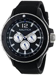 Nautica Men's N18673G NST Aluminum Multi Classic Analog with Enamel Bezel Watch