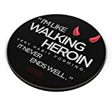 PosterGuy Fridge Magnet - Walking Heroin Lucifier, Tv, Series, Minimal, Quirky, Quote, Statement, Hell, Devil, Horns, Walking, Heroin, Lucifi