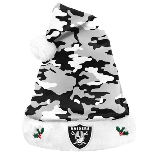 Oakland Raiders NFL Team Logo Plush Camouflage Santa Hat at Amazon.com
