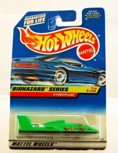 Hot Wheels - 1997 - Biohazard Series - Hydroplane - 1 of 4 - Collector #717 - Neon Green - Limited Edition - Collectible