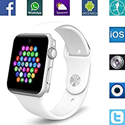 Banaus BS19 Smart Watch with 4.0 Bluetooth, SIM Card Slots for Smartphone - White