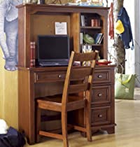 Hot Sale Lea Deer Run Student Desk w/ Hutch & Chair in Brown Cherry
