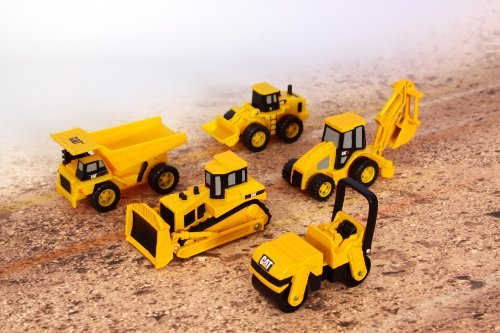 Toystate Caterpillar Construction Mini Machine 5-Pack Customerpackagetype: Standard Packaging Toy, Kids, Play, Children front-704646