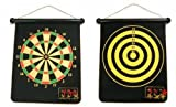 Reversible Magnetic roll up dart board with two side 6 magnetic darts dartboard