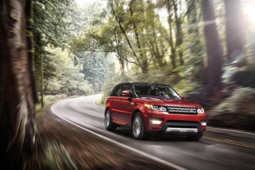 """Land Rover Range Rover Sport Car Art Poster Print On 10 Mil Archival Satin Paper Red Front Side Speed View 36""""X24"""""""