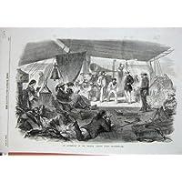 Impresión Antigua del Arte de los Juegos de los Pasajeros de la Nave del Océano Índico 1857 de las Zonas Tropicales...