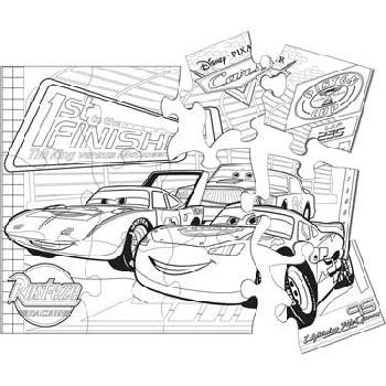 Disney's World of Cars Jumbo Coloring Puzzle - 1