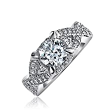 buy Bling Jewelry Sterling Silver Vintage Style Cz Infinity Round Engagement Ring