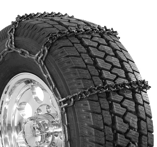Security Chain Company QG3827 Quik Grip Wide Base V-Bar Type RD Light Truck Tire Traction Chain – Set of 2