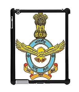 Fuson 2D Printed Indian Air Force Designer Back Case Cover for Apple iPad 2 - D997