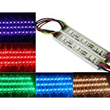 Rextin 20pcs 12V 7512 5050 SMD 3 LED Module Lights Multi color Color Changing Waterproof Lamp 3 years warranty for home garden xmas wedding party decoration or letter design