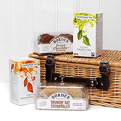 Classic Tea Biscuits Wicker Gift Basket Hamper By Fine Food Store Ideas For