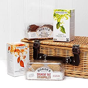 30th Wedding Anniversary Gift Basket : tea biscuits wicker gift basket hamper from fine food store gift ideas ...