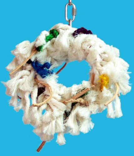 Image of Zoo Max DUS190S Fluffy Small 8in Bird Toy (B00061V46M)