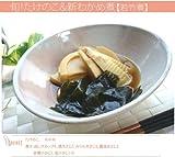 藍細刷毛目 煮物鉢