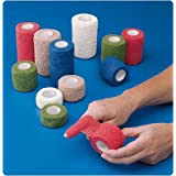 Co-Flex-NL (Latex-Free) Cohesive Flexible Bandage. Color: Red, Dimensions: 1½