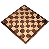 Apollo Tournament Chess Board with Inlaid Walnut and Maple Wood - Board Only - 20 Inch