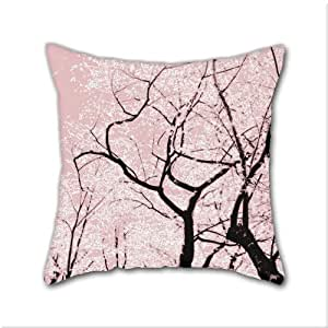 Decorative Pillow Cover Diy : Amazon.com - Natural Cotton DIY Decorative Pillow Cases, Cherry Blossom Dance Cotton Linen ...