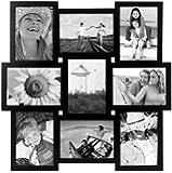 "Malden International Designs Crossroads 9 Opening 5x7"" Collage Black Picture Frame"