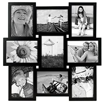 Malden Crossroads 9 Opening Collage Picture Frame, 5 by 7-Inch