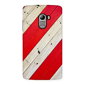 Red Woodish Pattern Back Case Cover for Lenovo K4 Note